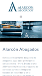 Mobile Preview of alarconabogados.pe